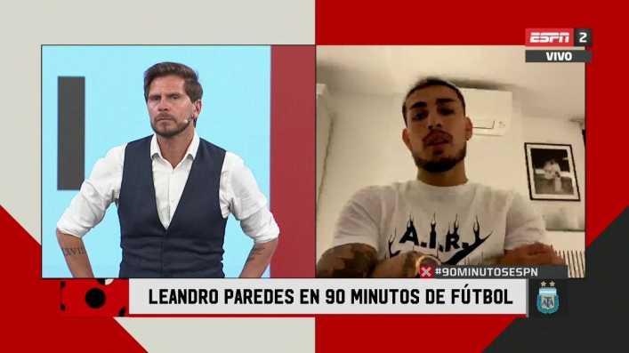 Leandro Paredes, en 90 Minutos de Fútbol: La idea es volver a jugar en Boca