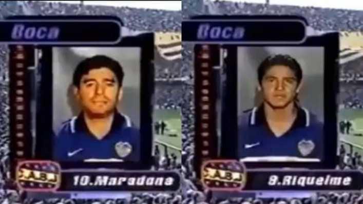 Maradona y Riquelme, el video que enloqueció a los hinchas de Boca