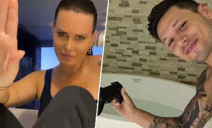 Natalie Weber confesó que su marido Mauro Zárate es un rompedor de joysticks serial