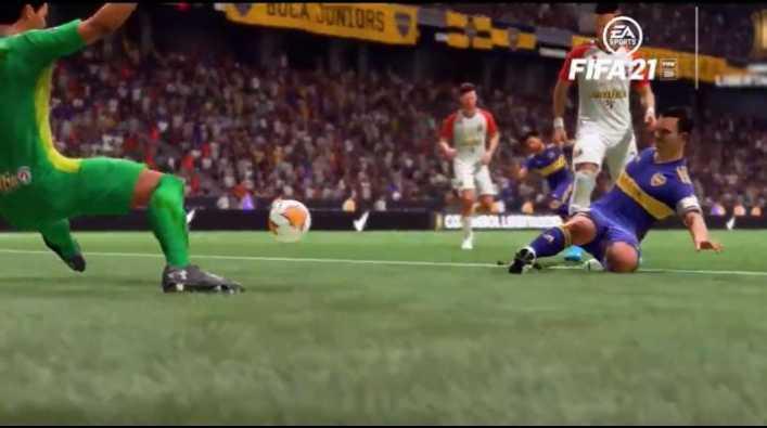 Recrean el histórico gol de Tévez contra Caracas en el FIFA 21