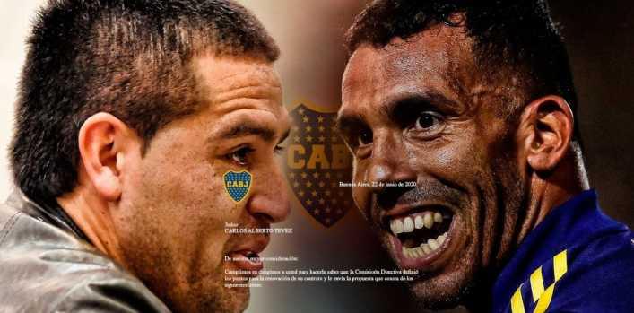Riquelme y Tevez, los dos jugaron para Boca