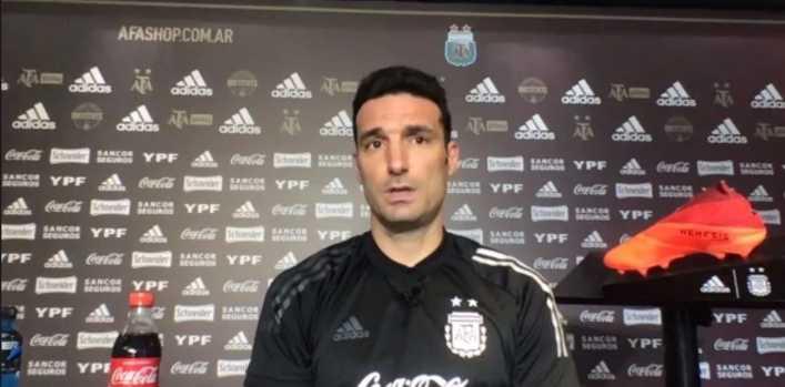 Scaloni: Confiamos en jugadores que puedan ser socios de Messi