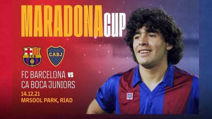 Se confirmó la Maradona Cup: Boca se enfrentará al Barcelona