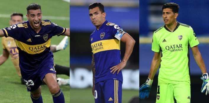 Tevez, Andrada y el Pulpo González, bajas en Boca contra el Globo