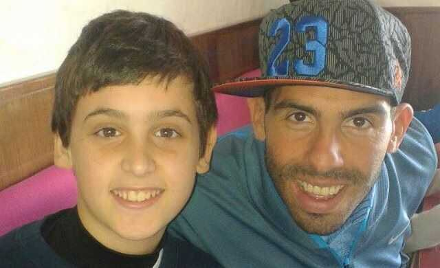 tevez visitaria nino marplatense enfermo cancer