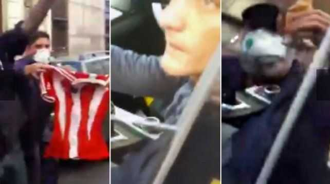 VIDEO: hinchas increparon al Mellizo en un estacionamiento