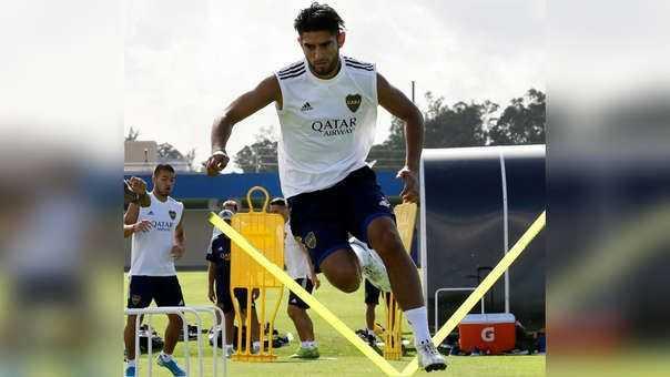 Zambrano jugó en el equipo titular en la práctica de Boca